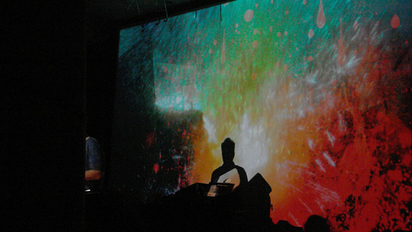 Live visuals w/Michael Myer Trouw Amsterdam